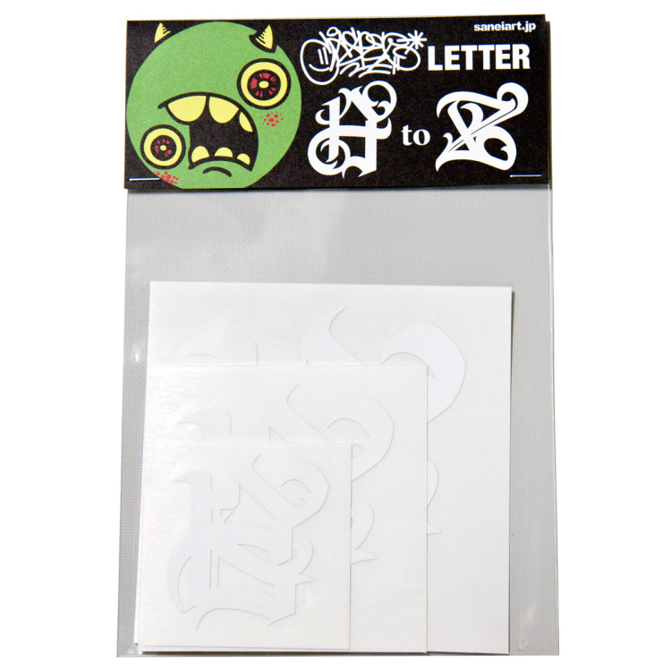 CASPER Letter AtoZ Cutting Sticker 白
